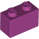 LEGO Magenta Brick 1 x 2 (3004)
