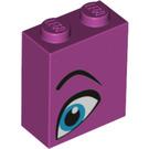 LEGO Magenta Brick 1 x 2 x 2 with Decoration with Inside Stud Holder (52086)