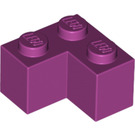 LEGO Magenta Brick 2 x 2 Corner (2357)
