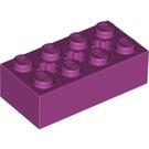 LEGO Magenta Brick 2 x 4 with Cross Hole (39789)