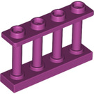 LEGO Magenta Fence Spindled 1 x 4 x 2 with 4 Top Studs (15332)