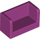 LEGO Magenta Panel with Closed Corners 1 x 2 x 1 (23969 / 35391)