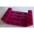 LEGO Magenta Slope 4 x 6 45° Double Inverted with Open Center 3 x Ø4.9 Holes