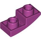 LEGO Magenta Slope Curved Inverted 1 x 2 x 0.6 (24201)