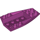 LEGO Magenta Wedge 6 x 4 Triple Curved Inverted (43713)
