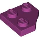 LEGO Magenta Wedge Plate 2 x 2 (45º) (26601)