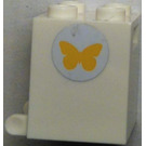LEGO Mailbox Casing 2 x 2 x 2 with yellow butterfly Sticker from Set 3315 with Recessed Studs (4345)