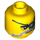 LEGO Major Quinton Steele Head (Recessed Solid Stud) (3626 / 10411)