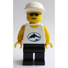 LEGO Male, White Shirt with Balck Dolphin in Blue Oval and Black Sunglasses Minifigure