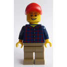 LEGO Male with Dark Blue Shirt Minifigure