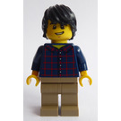LEGO Male with Plaid Button Shirt and Dark Tan Legs Minifigure
