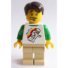 LEGO Male with Spaceman and Green Undershirt Minifigure