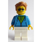 LEGO Man in Dark Azure Sweatshirt Minifigure