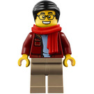 LEGO Man in Dark Red Jacket Minifigure