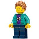 LEGO Man in Dark Turquoise Jacket Minifigure