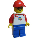 LEGO Man in Hat and Space T-Shirt Minifigure