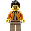 LEGO Man in Orange Jacket Minifigure