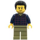 LEGO Man in Plaid Shirt Minifigure