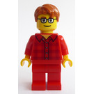 LEGO Man in Red Plaid Minifigure