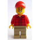 LEGO Man in Red Plaid Shirt Minifigure