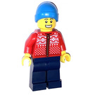 LEGO Man in Red Winter Jacket Minifigure