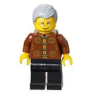LEGO Man in Reddish Brown Patterned Shirt Minifigure