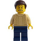 LEGO Man in Tan Knit Sweater Minifigure