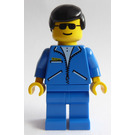 LEGO Man with Blue Jacket and Black Hair Minifigure