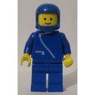 LEGO Man with Blue Jacket with Zipper, Blue Helmet Minifigure