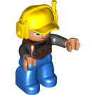 LEGO Man with Blue Legs and Yellow Cap Duplo Figure