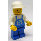 LEGO Man with Blue Overall and White Cap Minifigure