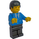 LEGO Man with Blue Suit and 3 Buttons Minifigure