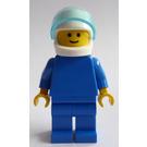 LEGO Man with Blue Torso and White Helmet Minifigure