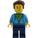 LEGO Man with Dark Azure Hoodie Minifigure