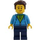 LEGO Man avec Dark Azure Hoodie Figurine