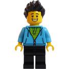 LEGO Man with Dark Azure Hoodie Minifigure