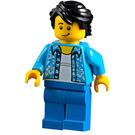 LEGO Man with Dark Azure Open Shirt Minifigure