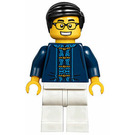 LEGO Man with Dark Blue Patterned Shirt Minifigure