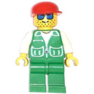 LEGO Man with Green Jacket and Red Cap Minifigure