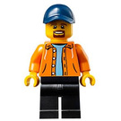 LEGO Man with Orange Jacket Minifigure