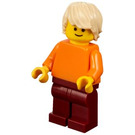 LEGO Man with Orange Shirt Minifigure