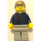 LEGO Man with red and blue checked shirt City Minifigure