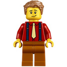 LEGO Man with Red Shirt and Suspenders Minifigure