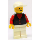 LEGO Man with Shirt with Buttons, White Legs, White Cap Minifigure