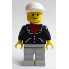 LEGO Man with Suit with 3 Buttons, White Cap Minifigure