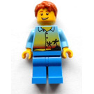 LEGO Man with Sunset, Palms and Tousled Hair Minifigure
