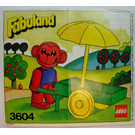LEGO Mark Monkey with his Fruit Stall Set 3604 Instructions
