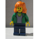 LEGO Mary Jane with Green Jacket Minifigure