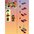 LEGO Master and Heavy Gun Set 3016 Instructions