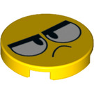 LEGO Master Frown Tile 2 x 2 Round with Bottom Stud Holder (14769 / 38313)